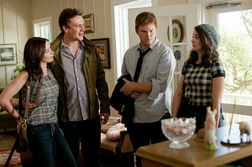 Emily Blunt, Jason Segel, Chris Pratt and Alison Brie in the Five-Year Engagement