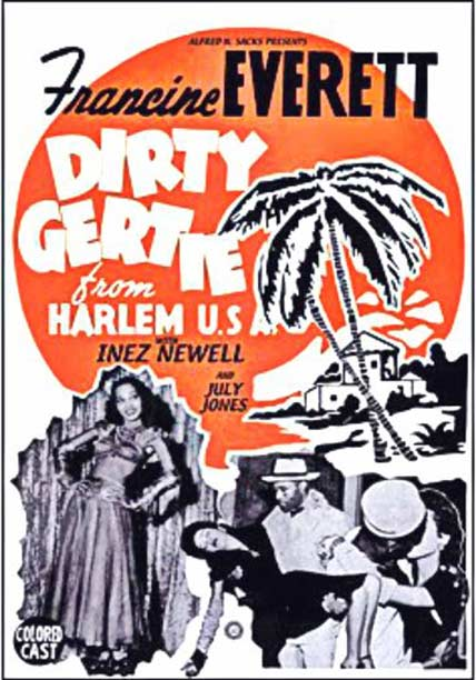 poster for Dirty Gertie from Harlem USA