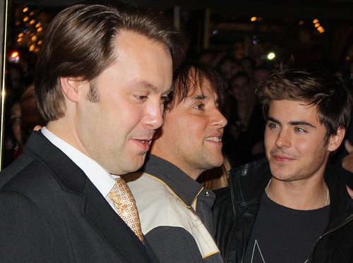 Christian McKay, Richard Linklater and Zac Efron