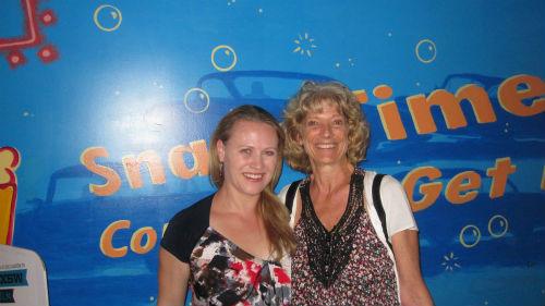 Rachel Wooton and audience member from SxSW 2012, Scarlet Road screening