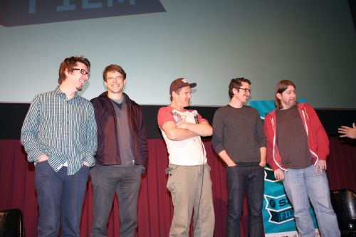 Scott Derickson, Jason Blum, Ethan Hawke, Brian Kavanaugh-Jones, and C. Robert Cargill