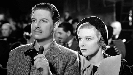 Robert Donat & Madeleine Carroll in The 39 Steps