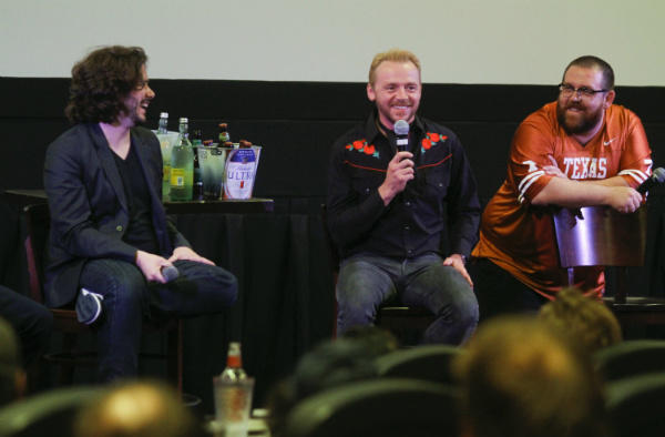 Edgar Wright, Simon Pegg & Nick Frost at Alamo Lakeline by Jack Plunkett
