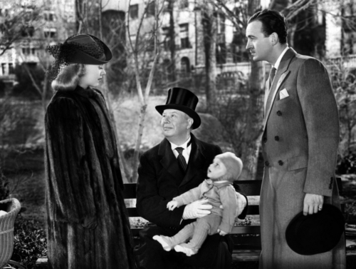 Ginger Rogers, Charles Coburn and David Niven in Bachelor Mother
