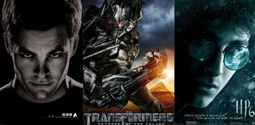 three summer film posters
