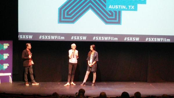 Mo Scarpelli & Alexandria Bombach during Q&A after FRAME BY FRAME