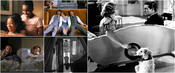 Stills from Pariah, When Harry Met Sally, Singin' in the Rain, Shadow of a Doubt and The Awful Truth