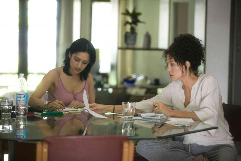 Archie Panjabi and Angelina Jolie in A Mighty Heart