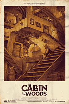 Cabin in the Woods poster from Mondo Tees