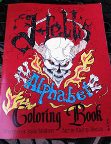Hell's Alphabet coloring book