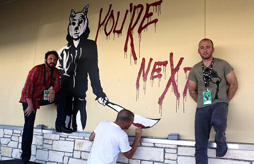 You're Next mural at Fantastic Fest 2011
