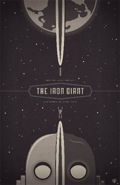 Iron Giant poster designed by Ben Garner