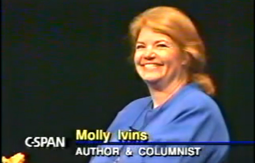 Molly Ivins in 1992