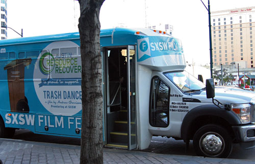 SXSW Film Flyer shuttle