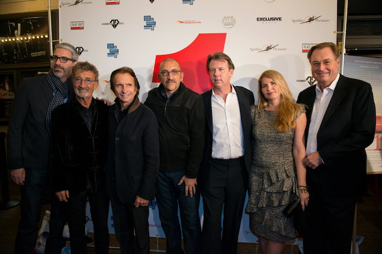 Filmmakers and Racers at 1 premiere