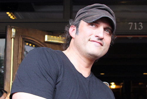 Robert Rodriguez on the Red Carpet of Sin City 2