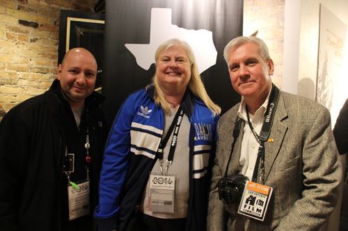 Deputy Director Alfred Cervantes of the Houston Film Commission, Janis Burklund, Director of the Dallas Film Commission, and San Antonio Film Commission Drew Mayer-Oakes