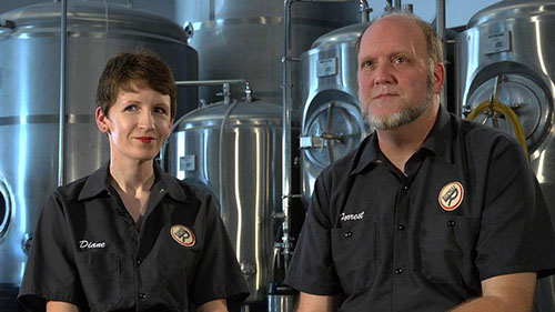 Diane and Forrest Rogness of Rogness Brewing