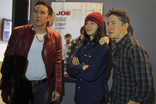 Nicolas Cage, Tye Sheridan, and David Gordon Green of 'Joe'
