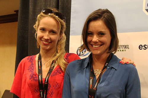 Anna Camp and Ashley Williams of Sequin Raze