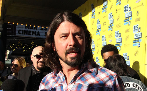 Dave Grohl on Sound City SXSW 2013 red carpet, by Debbie Cerda, all rights reserved