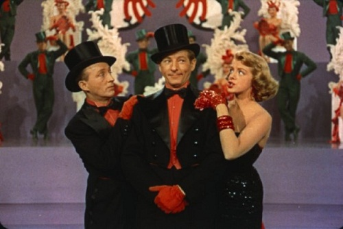 Still of Bing Crosby, Danny Kaye and Rosemary Clooney in White Christmas