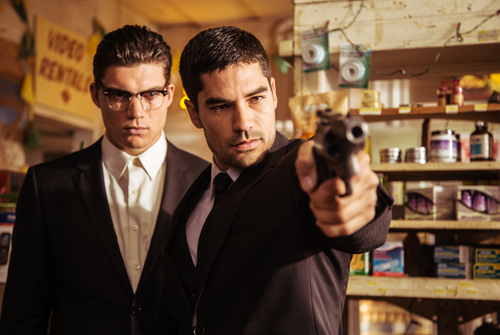Zane Holz and D.J. Cotrona as the Gecko Brothers