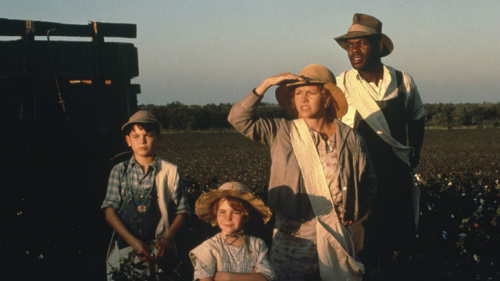 Yankton Hatten, Gennie James, Sally Field and Danny Glover in Places in the Heart