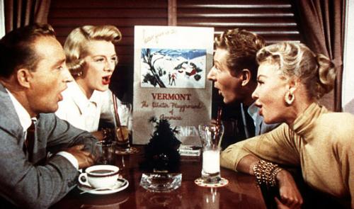 Bing Crosby, Rosemary Clooney, Danny Kaye and Vera Ellen in White Christmas