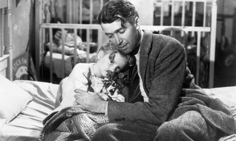 Karolyn Grimes and James Stewart in It's a Wonderful Life